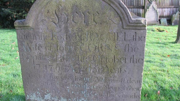 Image of John and Rachel Corns' gravestone, Wombourne